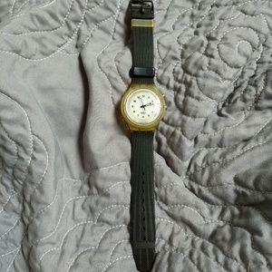 Swatch SCUBA Watch Classic Black & White 200m GUC